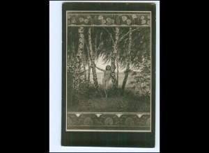"""U9322/ Fidus AK Nr. 134 """"Erwartung"""" Foto ca.1915"""