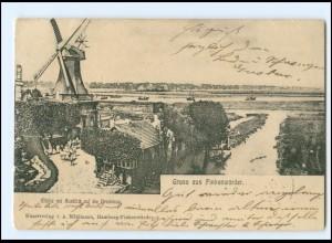 U9324/ Hamburg Finkenwerder Finkenwärder Windmühle AK 1904