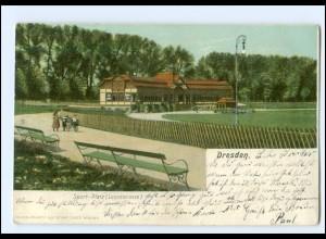 U9342/ Dresden Sportplatz Lennestraße AK 1907