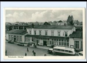 U9333/ Neumünster Bahnhof Omnibus AK 1952