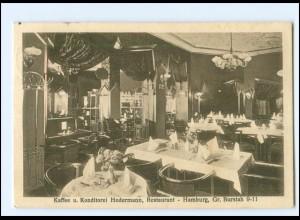 U9327/ Hamburg Kaffee Konditorei Hodermann Gr. Burstah AK 1926