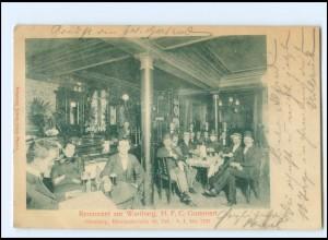 U9377/ Hamburg Bleichenbrückee Restaurant zur Wartburg AK 1901