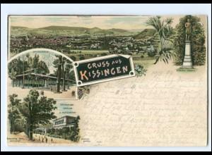Y16272/ Gruß aus Bad Kissingen Litho AK 1897