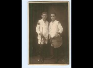 Y16273/ Jungen in Spielmannzug-Uniform Foto AK ca.1925