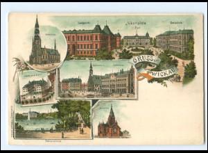 U9386-080/ Gruß aus Zwickau Litho AK ca.1900