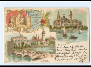 Y15307/ Zürich Werbung Plüss Staufer-Kitt Litho AK 1899