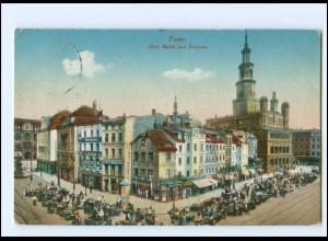 U9560/ Posen Alter Markt AK 1915