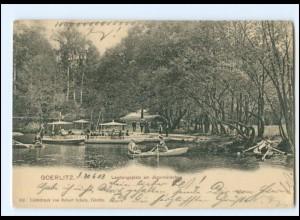 Y15364/ Goerlitz Landungsplatz am Jägerwäldchen 1903 AK