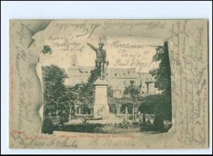 U9564-028/ Gruß aus Görlitz Prinz Friedrich Karl-Denkmal AK 1900
