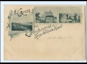U9430/ Brunsbüttel Elblotsenhaus am Kaiser Wilhelm-Kanal AK 1896