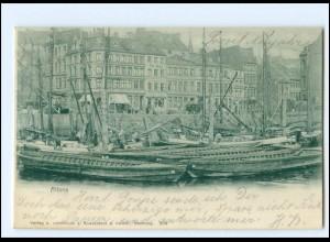 U9450/ Hamburg Altona Hafen AK 1902