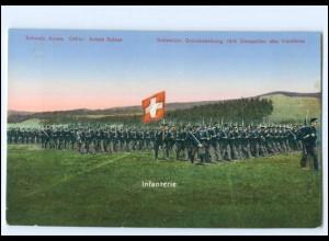 Y15217/ Schweizer Armee Grenzbesetzung 1914 Militär AK