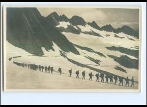 Y15216/ Infanterie im Gebirge Militär Schweiz Foto AK ca.1915