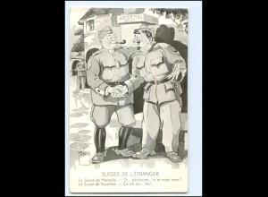 Y15211/ Grenzbesetzung 1939 Suisses de L `Etranger Schweiz Militär AK