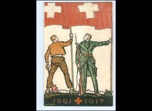 Y15207/ Bundesfeier für das schweizer Pote Kreuz AK 1917 Litho