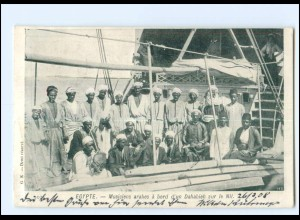 U9636/ Egypte Ägypten Musiciens arabes à bord d `un Dahabieh AK 1908