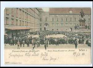 Y15220/ Wien Franzens-Platz Burgmusik AK 1903,