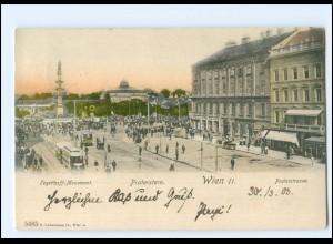 Y15260/ Wien Praterstr. Straßenbahn AK 1903