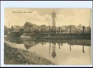 U9485/ Hamburg Finkenwerder Hafen AK 1914