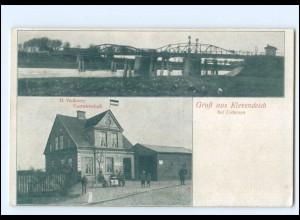 U9498-2082/ Gruß aus Klevendeich bei Uetersen Vietheers Gasthof AK ca.1920