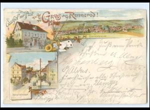 U9648-5439/ Gruß aus Rennerod Litho AK 1898