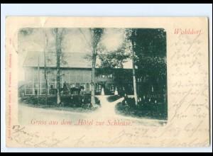 U9509/ Hamburg Wohldorf Hotel zur Schleuse AK 1902