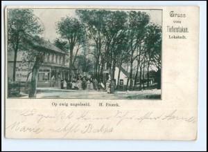 U9514/ Hamburg Lokstedt Gruß vom Tiefenstaken AK 1899