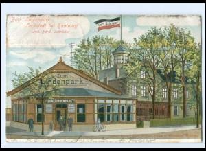 U9520/ Hamburg Lokstedt Zum Lindenpark AK 1904