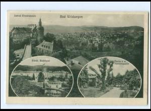 Y15362/ Bad Wildungen Schloß Friedrichstein Badehotel Helenenquelle 1933 AK