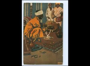 Y16005/ Amtliche Postkarte Ausstellung München 1910 Künstler AK Franz Glass