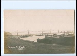 U9614/ Cernavoda Brücke Rumänien Foto AK ca.1920