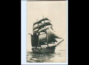 U9721/ Segelschulschiff Niobe Foto AK 1923