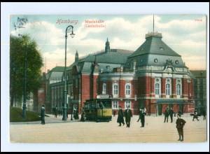 Y16006/ Hamburg Musikhalle Straßenbahn Ak 1910