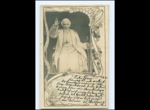 U9708/ Pabst Leo XIII schöne Jugendstil Foto AK 1903