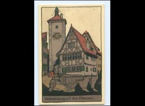 U9421/ Rothenburg o. T. Steinzeichnung Litho AK ca.1912