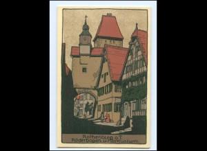 U9422/ Rothenburg o. T. Steinzeichnung Litho AK ca.1912