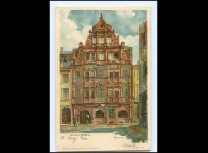 Y15160/ Heidelberg Zum Ritter K. Mutter Litho AK 1900 Verlag: Velten