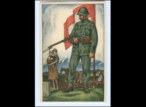 Y15184/ Schweizerische Nationalspende für Soldaten ... Litho AK 1918