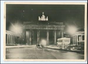 U9288/ Berlin Brandenburger Tor im Lichterglanz Foto AK 1938