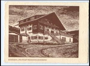 U9585/ Spindelmühle Friedrichsthal Villa Krauß Riesengebirge AK ca.1935