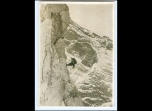 U9290/ Bergsteiger Deutche Bergwacht Abseilen eines Verletzten AK ca.1935
