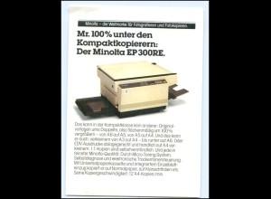 Y16270/ Minolta EP 300RE Kopierer Reklame Werbung AK Postkarte