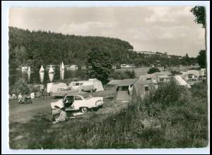 Y15498/ Campingplatz am Rußweier b. Eschenbach DKW F12 AK ca.1960