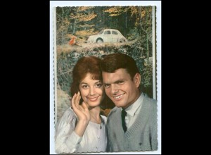 Y15310/ Junges Paar - Auto AK ca.1965