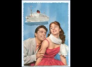 Y15311/ Junges Paar - Dampfer Schiff AK ca.1965