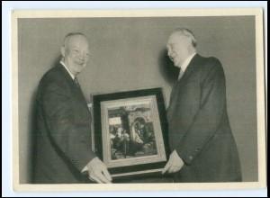 U9588/ Konrad Adenauer u. Präsident Eisenhower AK 1953