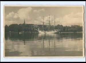 U9693/ Marine Segelschulschiff Niobe in Kiel Foto AK 1932