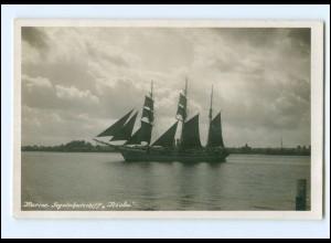 U9692/ Marine Segelschulschiff Niobe Foto AK ca.1930