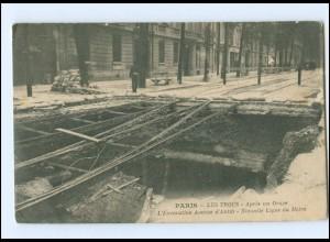 U9674/ PARIS - Les Trous - Apres un Orage L`Excavation Avenue d`Antin AK