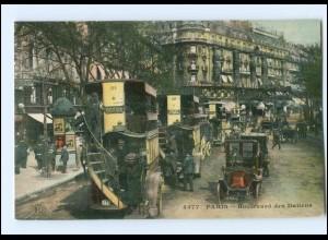 Y15395/ Paris Boulev. des Italiens Omnibusse AK 1912
